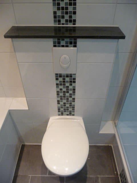 Badezimmer Mosaik Streifen.